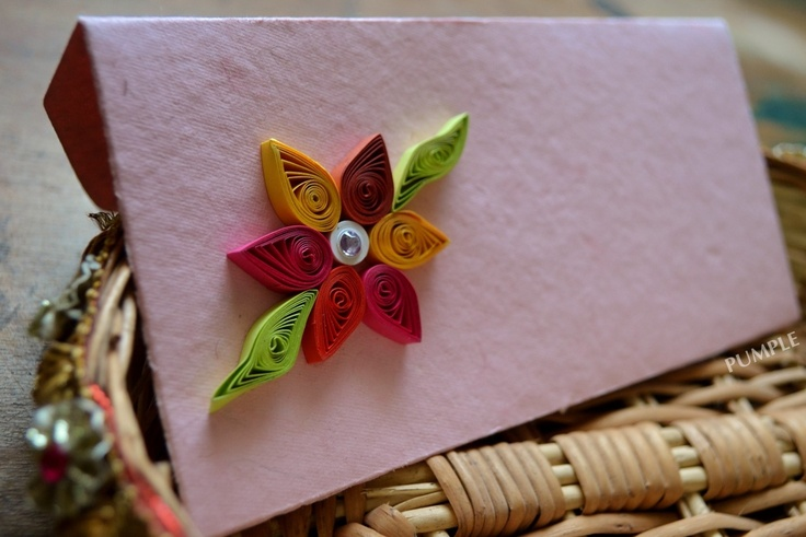 Colorful hand quilling