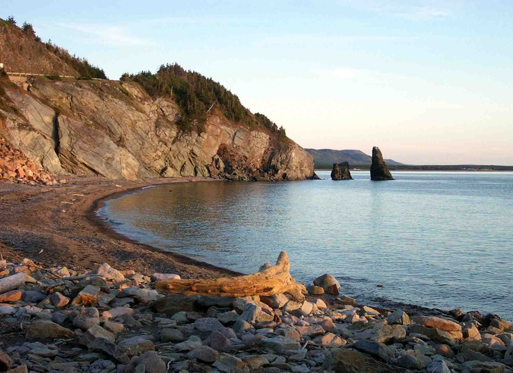 A serene pebble beach, Cape Breton, Nova Scotia
