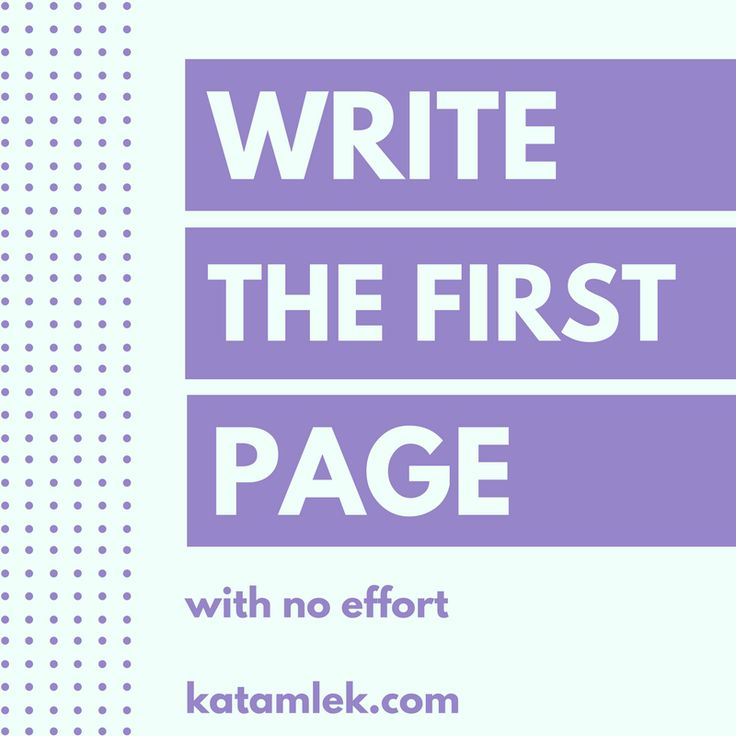 Dealing With the First Page