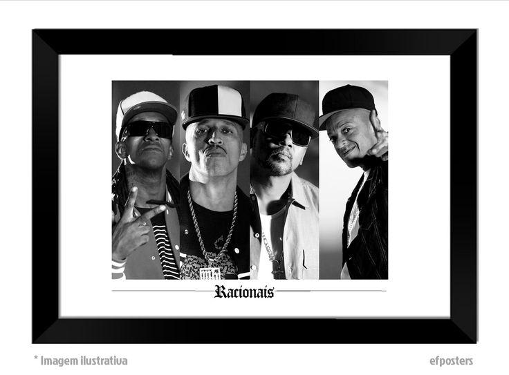 Poster Racionais MC's | Moldura preta ou branca - R$55,00 |  #efposters #efposters_oficial #posterpersonalizados #posters #quadros #postermusica #posterracionais #racionaismcs