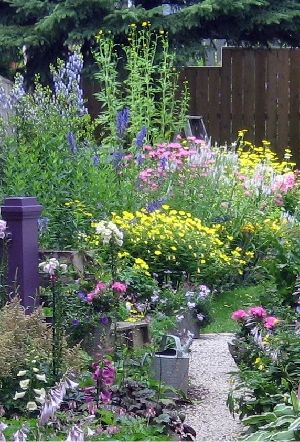 This is a beautiful Country Garden. You must not let it be too tidy or too trim. Let the flowers grow through each other like an unmade bed!!! ~Sandra~