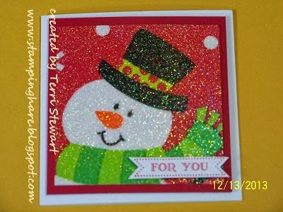 Stamping Hare: Glitter napkin cards