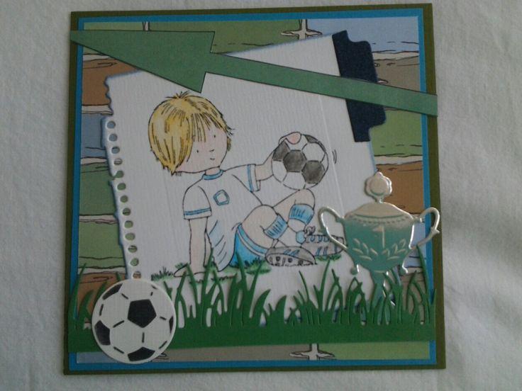 Jongens voetbal kaartje