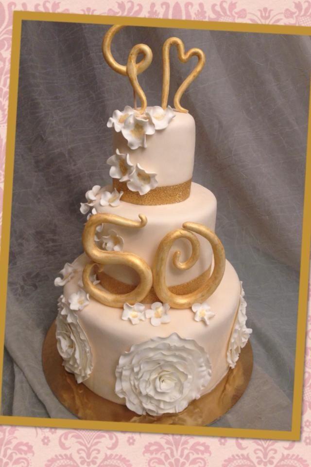 Torta Per Un 50esimo Anniversario Di Matrimonio Anniversary Cakes