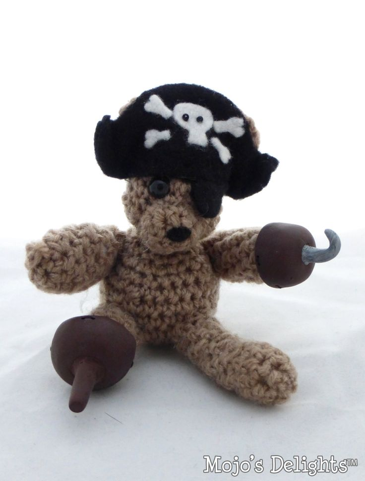 Amigurumi Pirate Bear by MojosDelights on Etsy