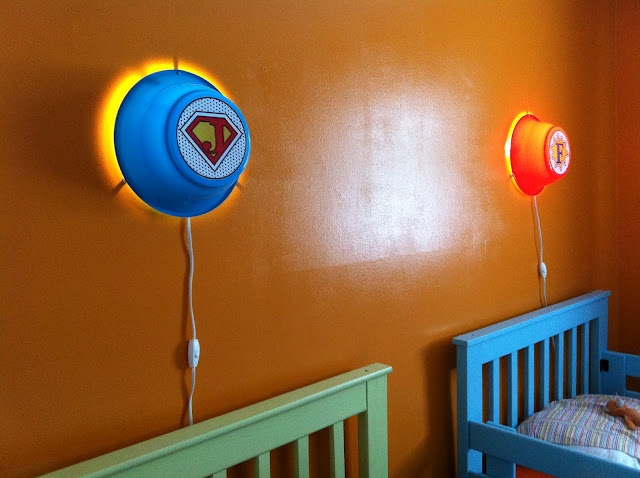 IKEA Hackers: Smila wall lamps into custom kids super hero night lights Superhero Avengers ...