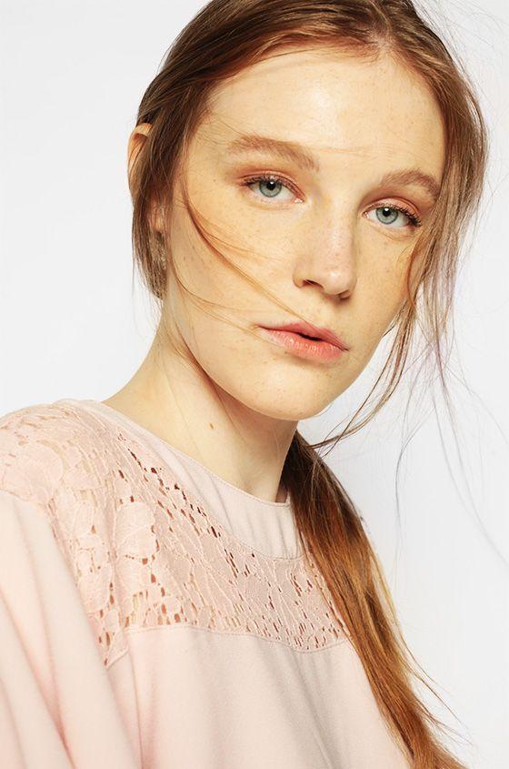 Short Sleeved Pink Lynn | COTTONINK
