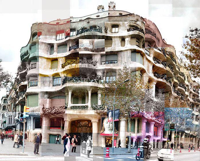 Casa Milà, Barcelona. Apartment building by Gaudi. So amazing in person.