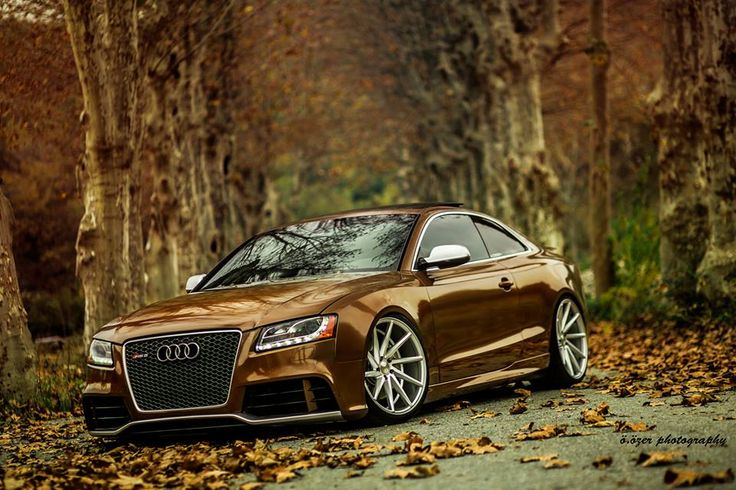 Audi RS5 in Fall mode. Sitting nicely on some Vossen CVT's ...