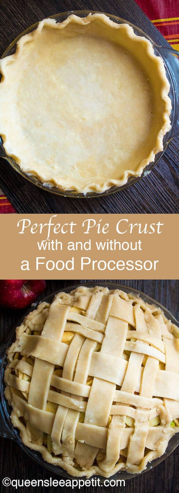 This pie crust is flaky, delicious and so easy to make. Whether you have a Food Processor or not, you can easily make a perfect pie crust that'll make all your homemade pies taste amazing!