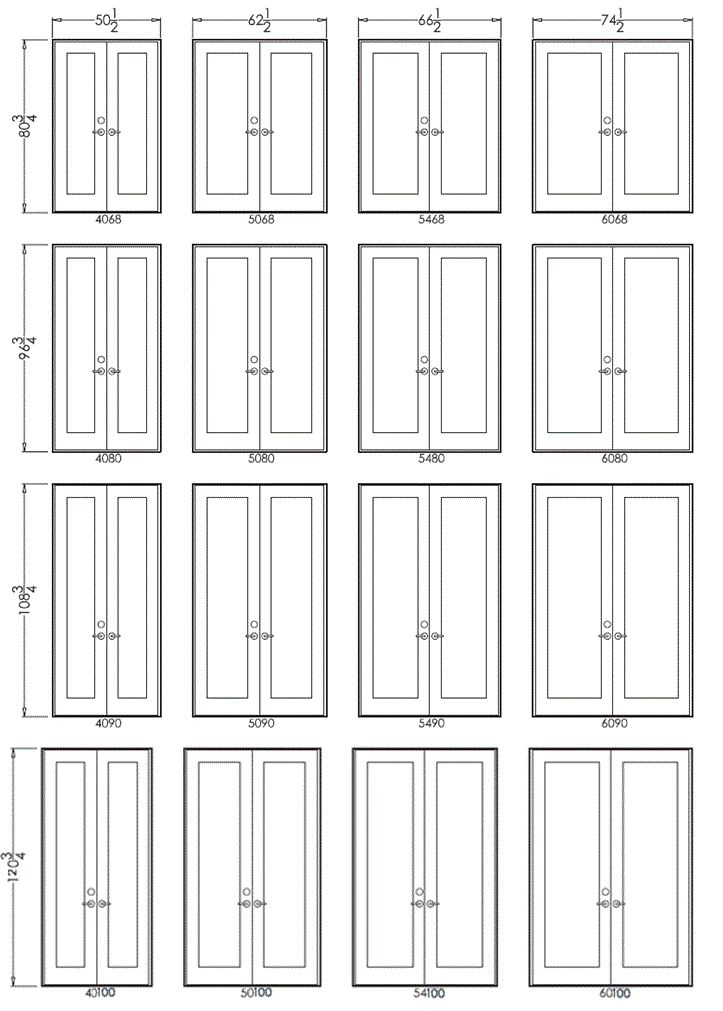 french door sizes