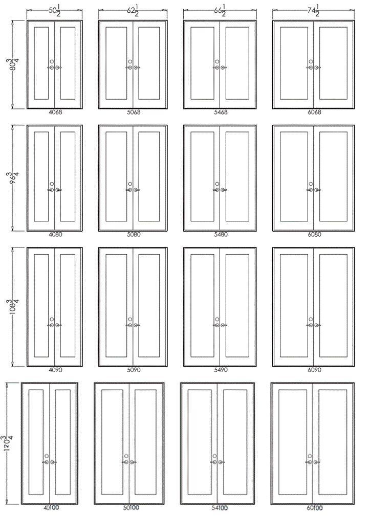 internal double door sizes