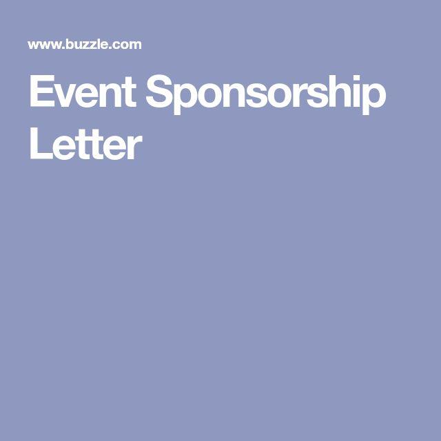 Best  Sponsorship Letter Ideas On   Donation Letter