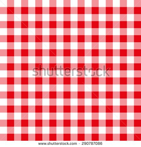 Seamless pattern with trendy stylish cell Gingham, Red and white - stock vector