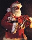 Santa's Bounty ~ Fine-Art Print - Santa Claus Art Prints and Posters - Christmas Pictures