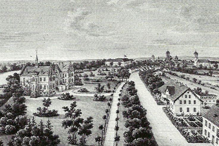 ul. Szprotawska (Sprottauer Strasse), Żagań - 1875 rok, stare zdjęcia