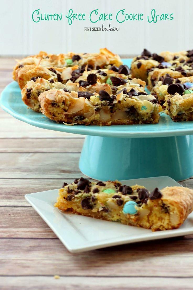 Gluton free Cake Cookie Bars