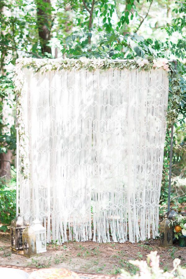 Bohemian party arch: http://www.stylemepretty.com/living/2016/09/30/throw-a-mini-bohemian-festival-in-your-own-backyard/ Photography: Annie Watts - http://www.anniewattsphotography.com/