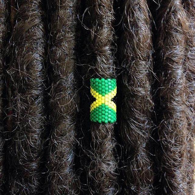 Jamaica Loc Jewelry, Dreadlock Accessory, Rasta Dread Bead, Cuff for Locs Braids Twists by knottysleeves on Etsy https://www.etsy.com/listing/293834169/jamaica-loc-jewelry-dreadlock-accessory