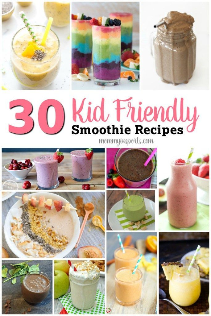 Looking for a way to add vegetables to your kid's diet? Try one of these 30 kid friendly smoothie recipes guaranteed to nourish your children and make them smile!