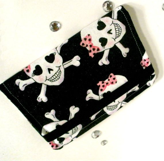 Skulls and Bows  Purse Wallet / Business Card by bloomandbling, $13.00