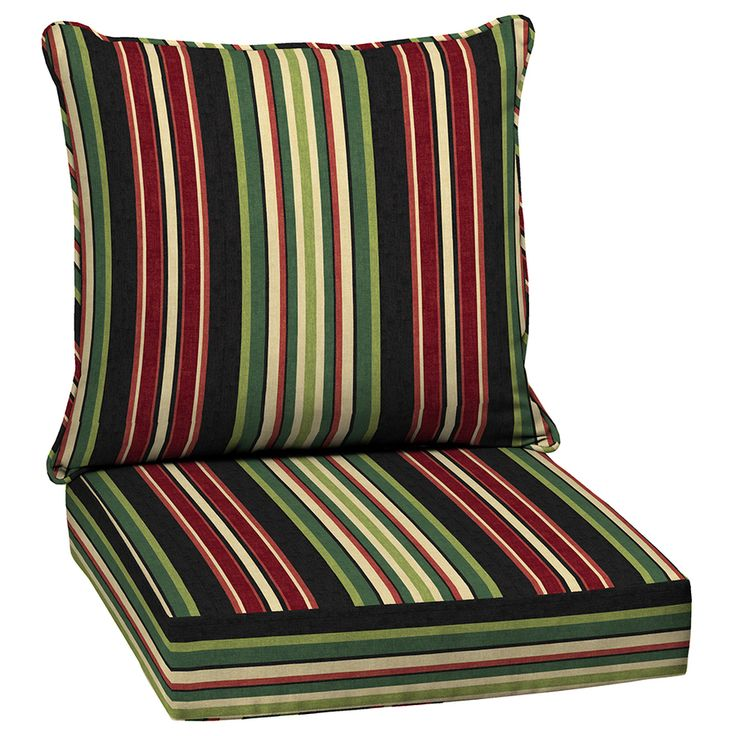 398 67 Garden Treasures Sanibel Stripe Cushion For Deep