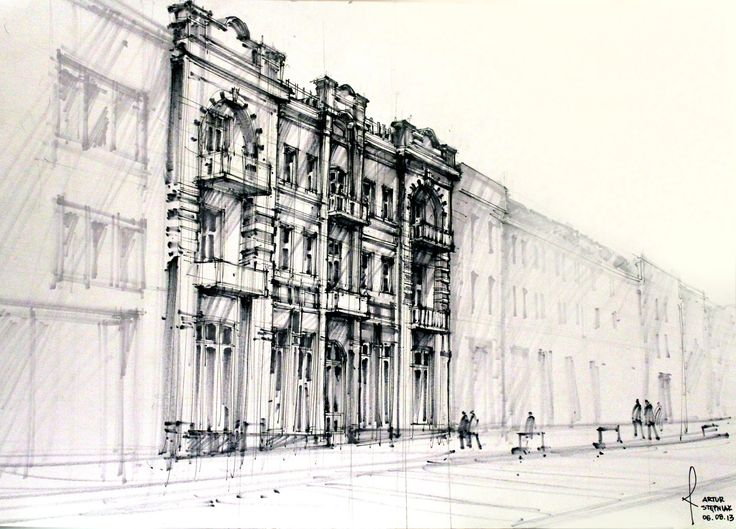 Architect Buildings Sketches