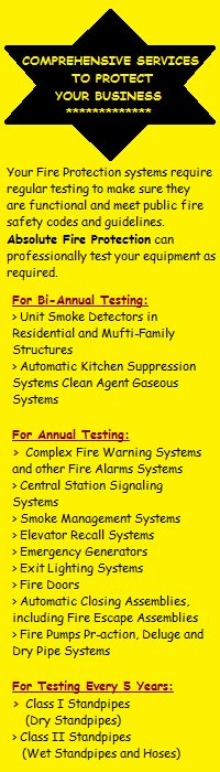 Absolute Fire Protection's Comprehensive Services. Click here to know more: http://fireprotectionservicesla.com/
