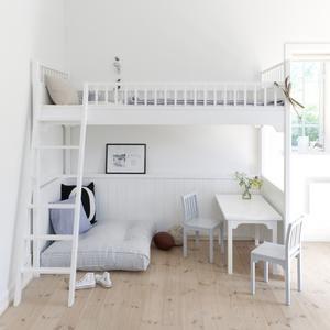 Golvkudde blå vit randig 90 x 90 cm, Oliver Furniture