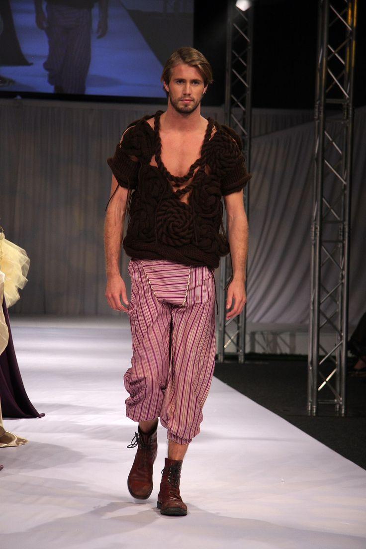 Designer Knitwear for Men Designer: Rebecca Timson, Photographer: Penny Lane, Model: Tom Bull,