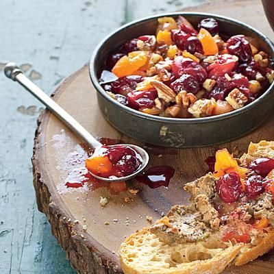 Cranberry-Pecan Chutney | Serve this versatile, zingy condiment with Chicken Liver Pâté as a toast topper and with turkey as a relish. | SouthernLiving.com
