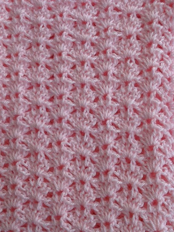 Soft and Cozy Baby Afghan in Baby Pink Pink door LakeviewCottageKids