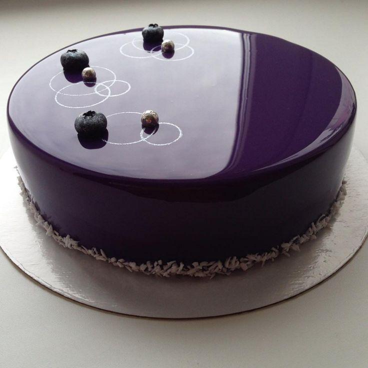 bolo espelho violeta