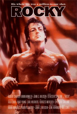 Rocky. Its not my favorite of the 5+1 Rocky films(the sixth one isnt really a film its just an excuse to give old sly some more cash) but it did ring the metaphorical bell deserves a solid 6/10