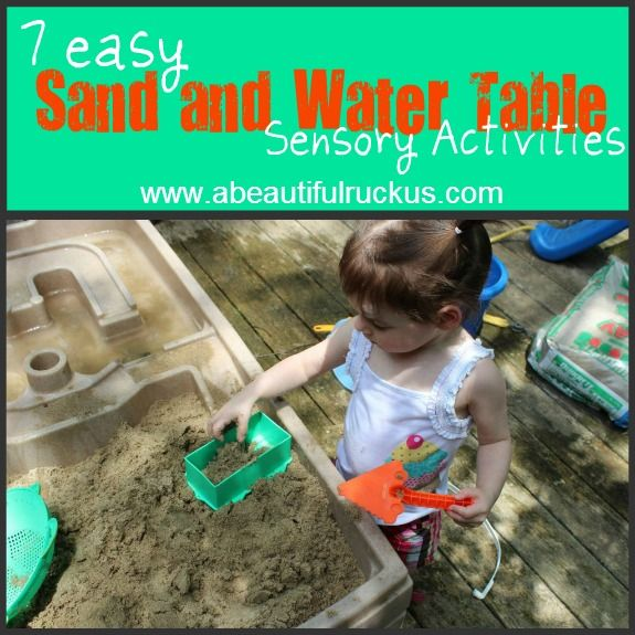 7 Easy Sand and Water Table Sensory Activities