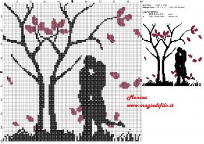 Schema punto croce Coppia innamorata 100x100 2 colori.jpg (2.05 MB) Mai osservato