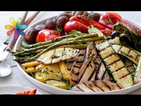 Юлия Высоцкая — Запеченные овощи с соусом песто из грецких орехов - YouTube