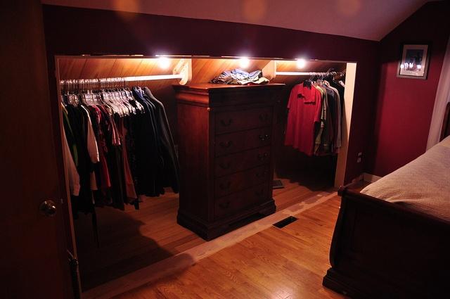 Attic Wardrobe Organisation