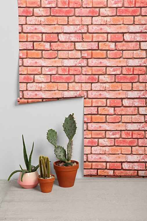 Walls Need Love Brick Removable Wallpaper - Urban Outfitters
