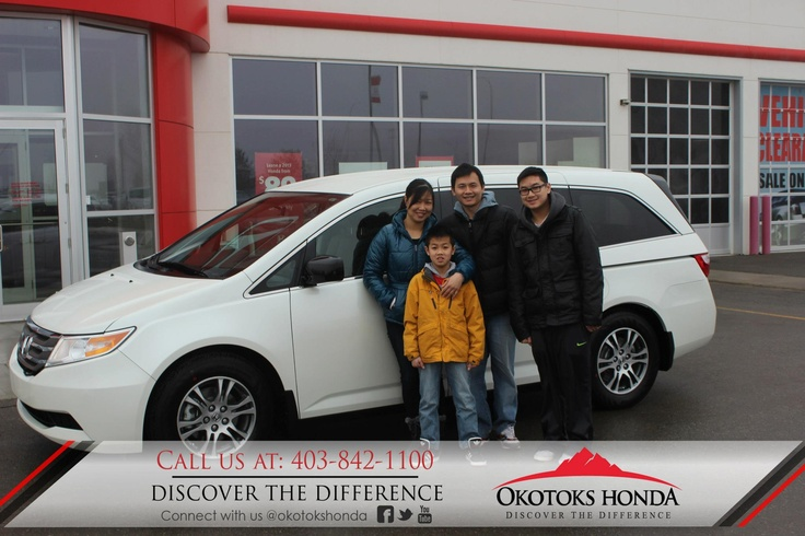 The Li Family and their Honda Odyssey - thanks to Harry Loewen. Welcome to the OH Family! Call Okotoks Honda at 403.842.1100 for your vehicle and maintenance needs.
