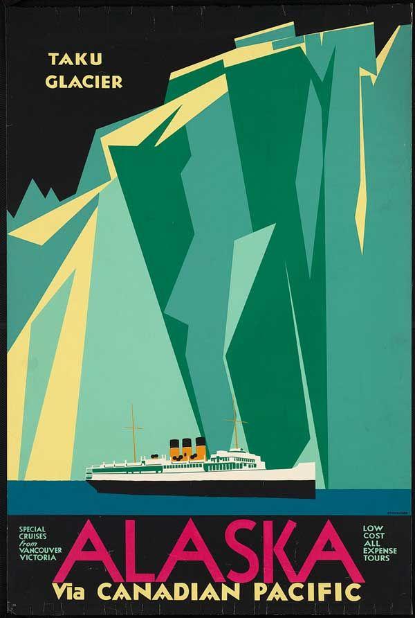 Art Deco Alaska Canadian Pacific Poster