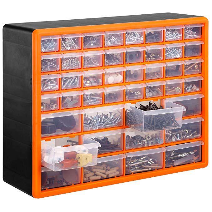 Vonhaus Casier Armoire De Rangement 44 Tiroirs Compartiments Noir Orange Amazon Fr Bricolage Armoire Rangement Rangement Vis Rangement Tiroir