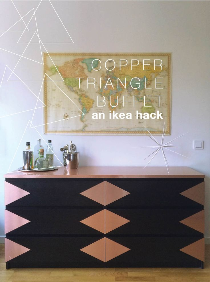 I am so excited to reveal this super easy Ikea Malm Dresser hack I've been  thinking about for ages now. Our dresser got a little banged up during its  trip over the Atlantic which gave me the perfect excuse to get crafty on  it.   You know I'm addicted to copper and I love how the tone is reflected in the  Rand McNally world map tacked right above. It also repeats the copper in  the Ikea hacked Ekby Gällö shelves and in our desks (to be revealed  soon!).   This diy is so easy, it's all ...