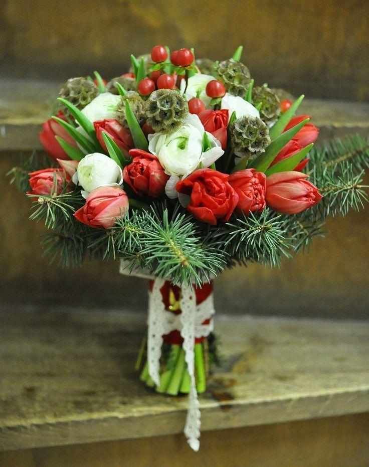 Зимний свадебный букет тюльпанов купить украина, хризантем свадьбу значение