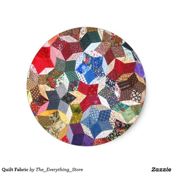 Quilt Fabric Classic Round Sticker