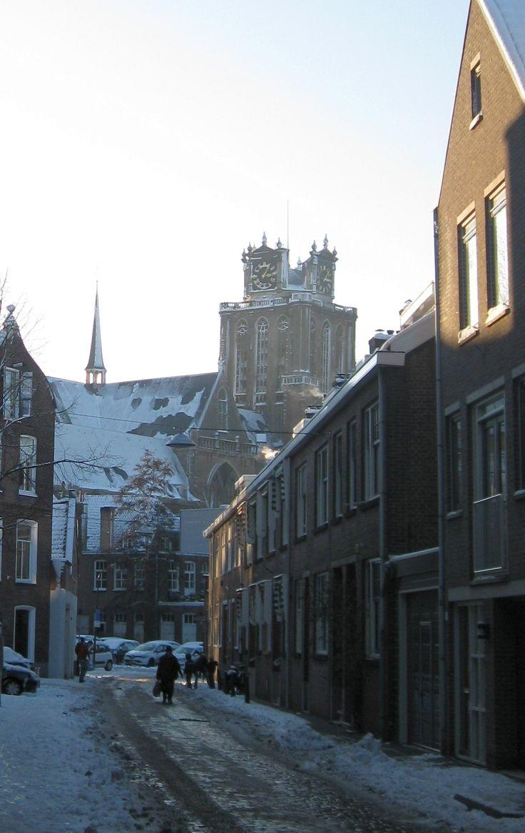 De Dordtse Dom, een beetje in winterse sfeer. (foto Astrid den Hartog)