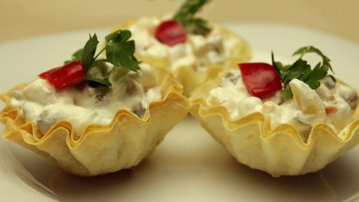 Çıtır Yufka Kasede Amerikan Salata - Rus Salatası Tarifi