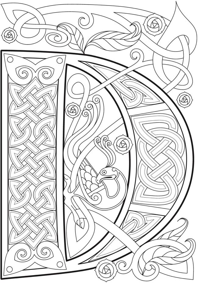 Welcome To Dover Publications Ch Celtic Alphabet Celtic Alphabet Celtic Coloring Lettering Alphabet