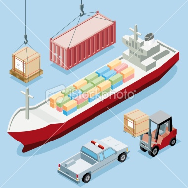 stock-illustration-14553135-isometric-freight-transportation.jpg (380×380)