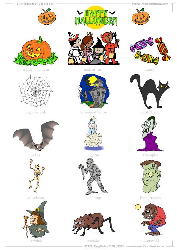 Printable Worksheets halloween esl worksheets : 188 best Thema Halloween images on Pinterest | Monsters ...